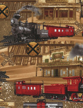 "Timeless Treasures Trains Brown Beautiful 100% cotton Fabric Remnant 32"" - $258,18 MXN"