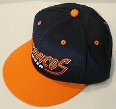 NWT NFL Team Apparel Baseball Hat - Denver Broncos Plastic Snapback Closure - $17.99