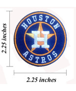 """Houston Astros Small Size 2.25"""" Embroidered Iron On Patches - $1.15"""
