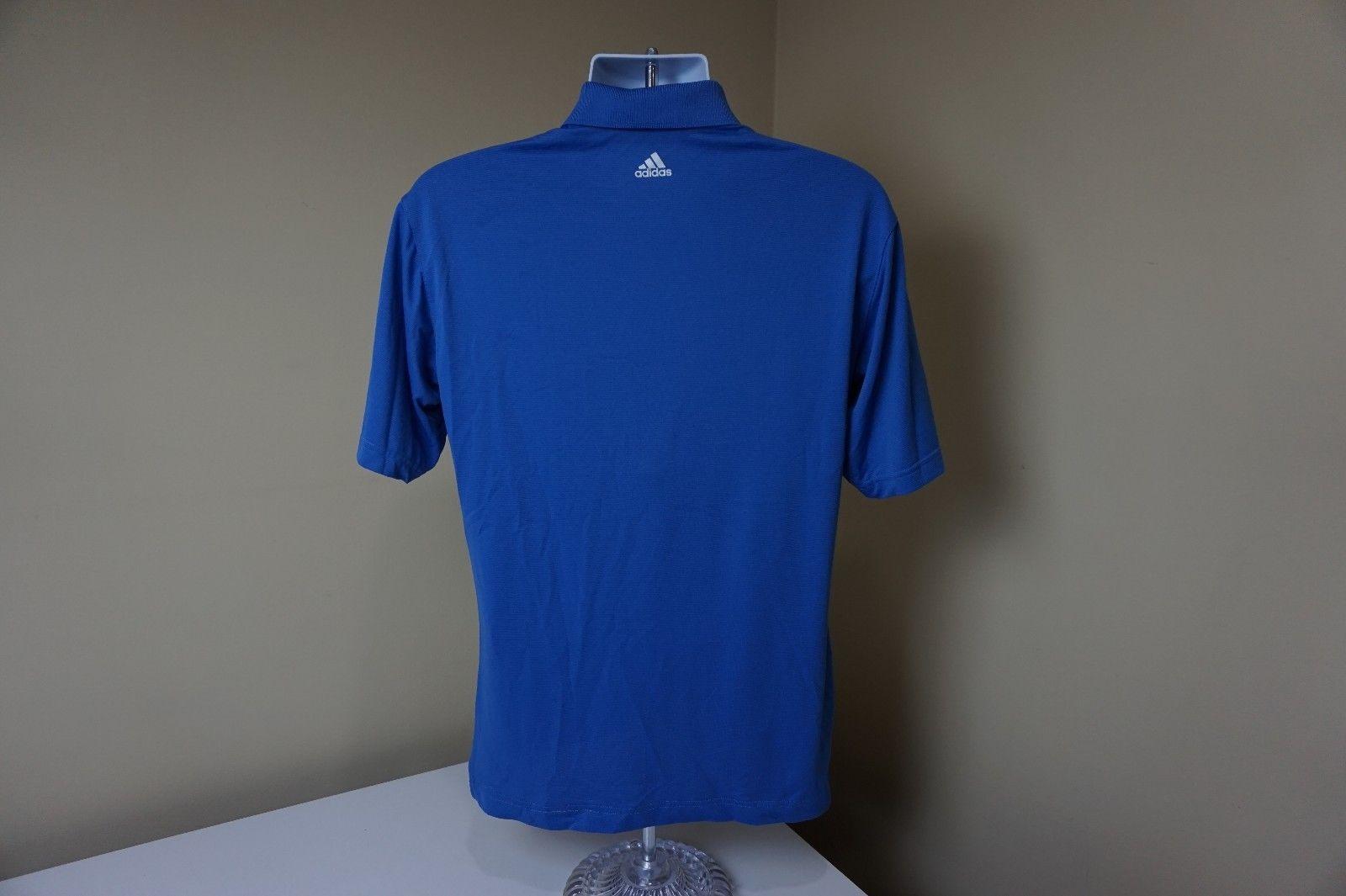 7bcba48bcd3 Adidas Golf Climalite Chicago Bulls Polo Shirt NBA Coach Blue Men s Medium