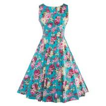 Sisjuly vintage dresses 2017 summer print floral 1950s style elegant par... - $35.00