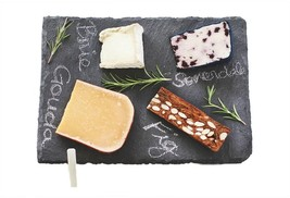 10 in. x 14 in. Slate Cheese Board With Chalk Food Safe And Hand Wash - $42.53