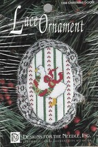 Christmas Goose #1208 Lace Ornament Counted Cross Stitch Kit 1992 - $3.46