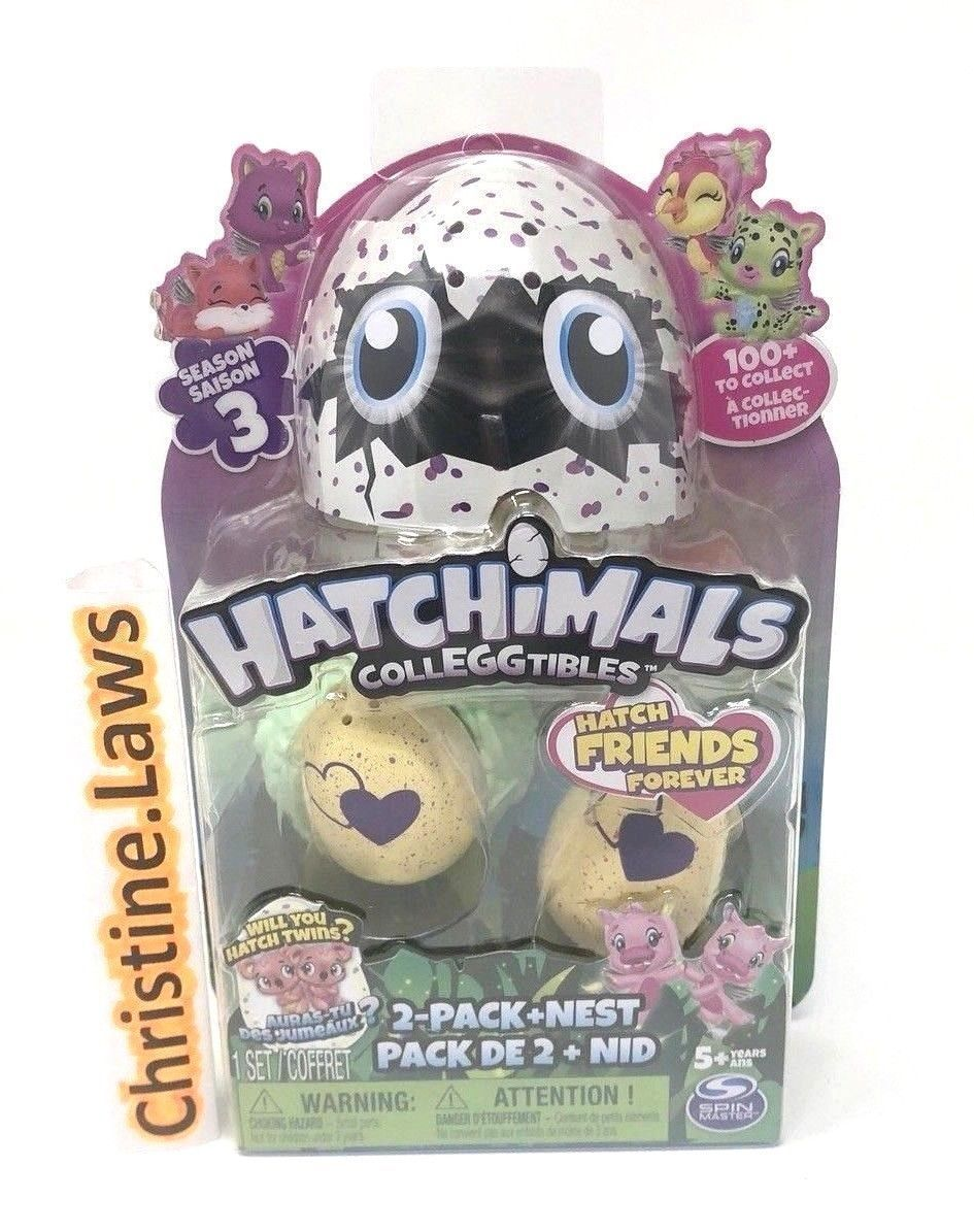 Hatchimals CollEGGtibles 2-Pack + Nest SEASON 3 Spinmaster Hatchimal - Brand new