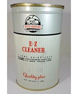 """Tin Stanley EZ Cleaner Metal 7"""" Tall No Rust Paint Loss & Wear Grey-Red ... - $5.94"""