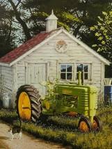 John Deere Tractor Farming Farmer's Cat Metal Sign - $30.00