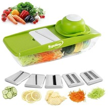 Best Mandoline Slicer with Container and 5 Ultra Sharp Blades and Hand G... - $19.79