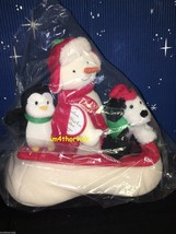 Hallmark 2007 Snow What Fun Sledders Plush Jingle Pals New In Bag - $49.99