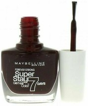 Maybelline Forever Strong Super Stay 7 Day Nail Polish #287 Midnight Red... - $7.75