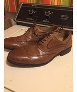 Mens Johnston Murphy Wing Tip Brown Leather Oxfirds 15-7070 Sz 10.5w (bc3) - $69.66