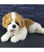 "Plush St. Bernard Dog 25"" Tan White Beethoven Stuffed Puppy Toy Lifelike  - $43.55"