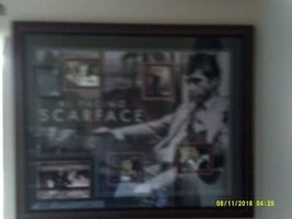 Al Pacino SCARFACE FRAME-20X35 HUGE-AUTOGRAPHED By Pacino. - $400.00