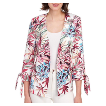 Tahari Women's Three Quarter Sleeves Tied Cuffs Open Front Jacket - $39.77