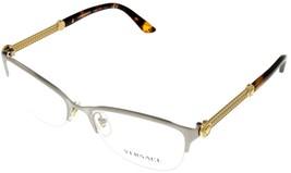 Versace Eyeglasses Frames VE1228 1266 Semi Rimless Silver Gold Women - $167.31
