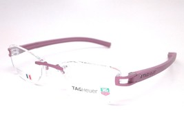 Tag Heuer Unisex Eyeglasses TH7646 016 Purple Frame Demo Customisable Lens - $128.69