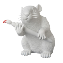 Medicom Toy Banksy Love Rat Statue Figure Limited From Japan New EMS - $1,465.09