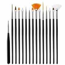 Nail Acrylic Brushes Gel Carving Manicure Beautiful Art Design Liquid Po... - $10.99
