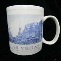 Starbucks Las Vegas Coffee Mug 2008 Architecture Series 18 oz White & Blue - $18.28