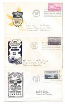 3 Loor Cachets FDCs Sc# 961 970 992 Fort Kearney Canada National Capital  - $6.69