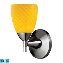 Elk Lighting Celina LED Wall Sconce in Polished Chrome and Canary - $136.50