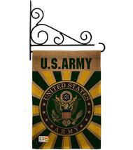 Army Burlap - Impressions Decorative Metal Fansy Wall Bracket Garden Fla... - $36.97