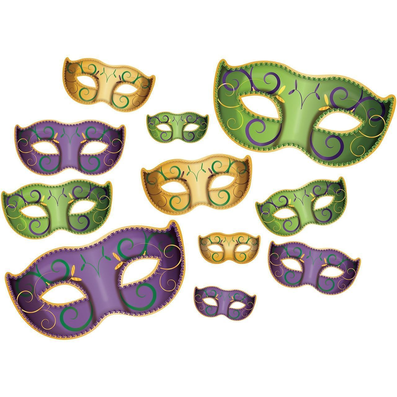 Mardi Gras Mask Cut Out Decorations