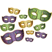Mardi Gras Mask Cut Out Decorations - $9.89