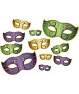 Mardi Gras Mask Cut Out Decorations - $9.89