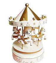 PANDA SUPERSTORE The Small Fresh Carousel Musical Box Cute Music Box