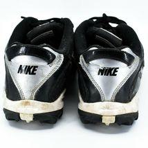 Nike Land Shark Legacy Boy's Youth Kids Black & White Football Cleats Size 6Y image 4