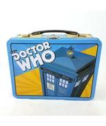 BBC Doctor Who Tardis Dalek 3-D Emboss Metal Retro Tin Lunch Box Tote - £9.28 GBP