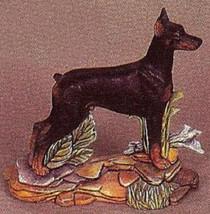 pyop Doberman Pinscher Dog on a Rock Base U-Paint Ceramic Bisque - $9.99