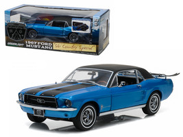 "1967 Ford Mustang Coupe ""Ski Country Special\"" Vail Blue 1/18 Diecast Model Car - $81.82"