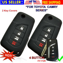 2 Silicone Entry Cover Case Fob Skin for Toyota 2019 2020 Corolla Camry Flip Key - $11.87