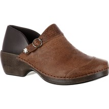 ROCKY Womens 4EurSole 2-IN-1 Brown Leather Western Clogs Shoes Size 6.5 RKYH045 - $122.75