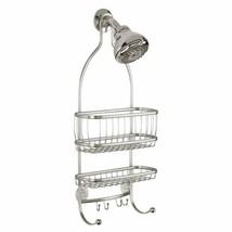 Hanging Shower Caddy Wire Rack Holder Organizer Hooks Bathroom EXTRA WID... - $40.46