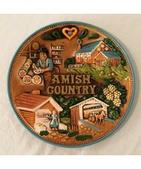 Amish Country PA Decorative Collectible Souvenir Wall Plate 3D Vintage C... - $24.99