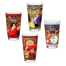 Disney Store Beauty and the Beast Drinking Glass Set 4 pc. - Oh My Disney - $79.95