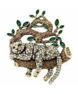 "Heidi Daus ""Lazy Leopard"" Crystal Pin, Swarovski crystals - $149.95"