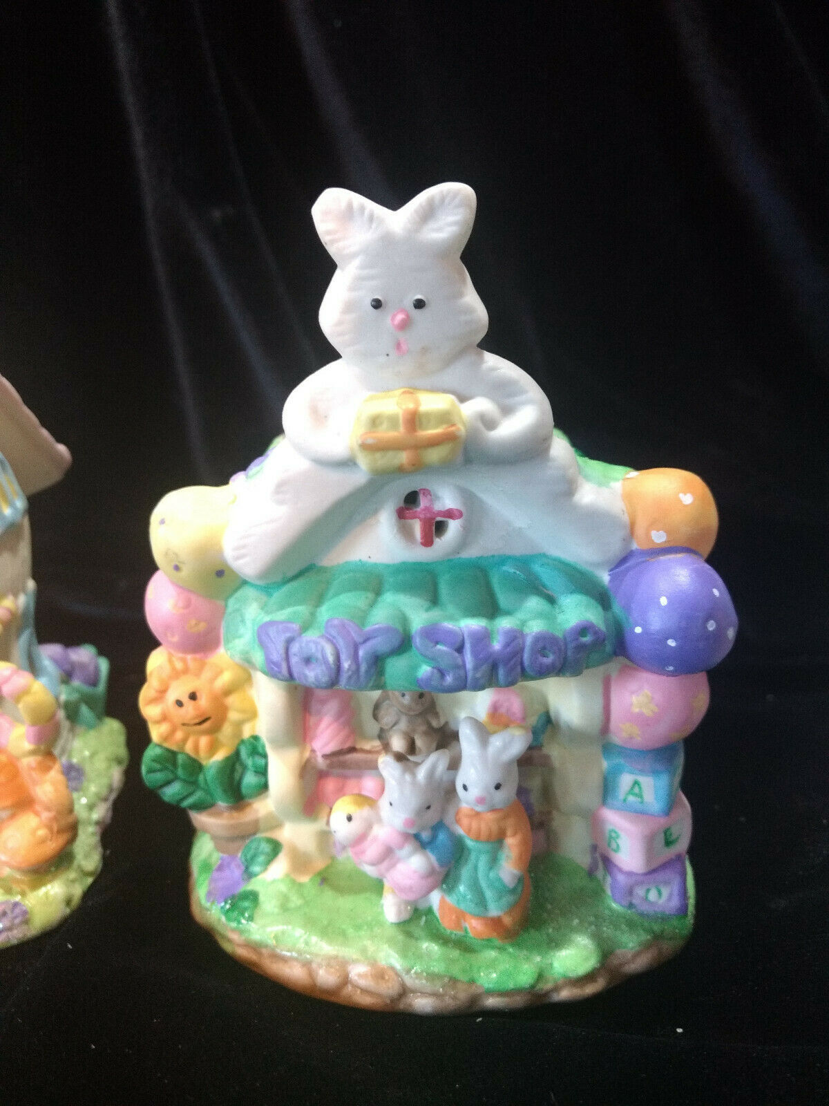 Hoppy Hollow Easter Village Ceramic Houses Set of Three (Lot #4) image 3