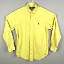 Polo Ralph Lauren Classic Fit Oxford Solid Yellow Long Sleeve Button Shi... - $16.55