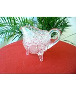 Hand Cut Accents Clear Crystal Table Creamer - $8.91