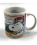 2011 Peanuts ® Snoopy A Dog's Whole Life Is Ridiculous Tea Coffee Mug Cup - $8.93