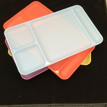 Tupperware 1535 Divided Trays Picnic Cafeteria Camping Lunch TV Multi Lo... - $39.55
