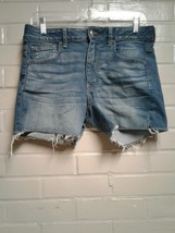 Women's American Eagle Outfitters Blue Size 8 Super Stretch Jeans Shorts - $8.46