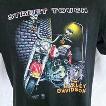 VTG 1989 Harley Davidson 3D Emblem Street Tough T Shirt 80s Tee Biker Trucker XL image 5