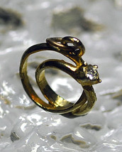NICE Gold plated Sterling Silver Charm Marriage Wedding Band cubic ring engageme - $14.92