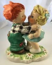 GOEBEL Vintage Stolen Kiss Red Haired Boy Kissing Girl Figurine 1951 BYJ18 - $21.19