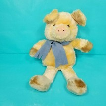 Pig Hand Puppet Orange Blue Xmas Scarf Plush Stuffed Teachers Aide Full ... - $19.79
