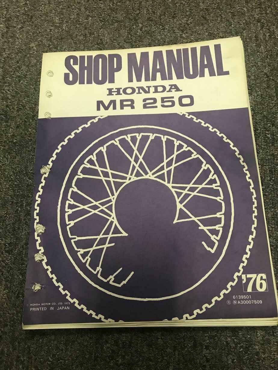 1975 1976 HONDA MR250 MR 250 Service Shop Repair Workshop Manual OEM RARE - $18.97